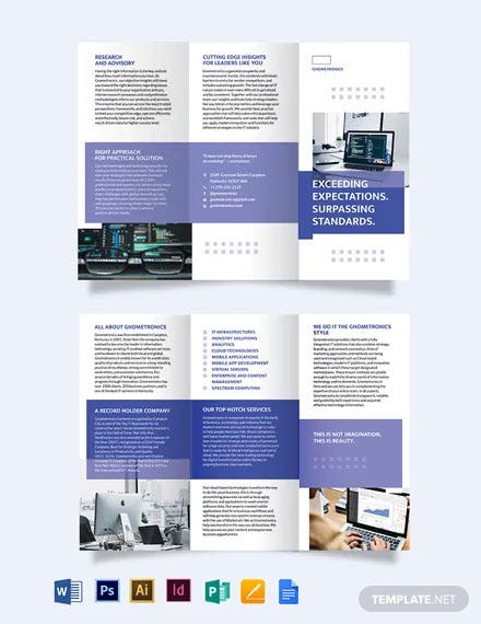 IT Tri-Fold Brochure Template
