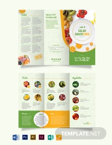 Healthy Food Diet Tri-Fold Brochure Template
