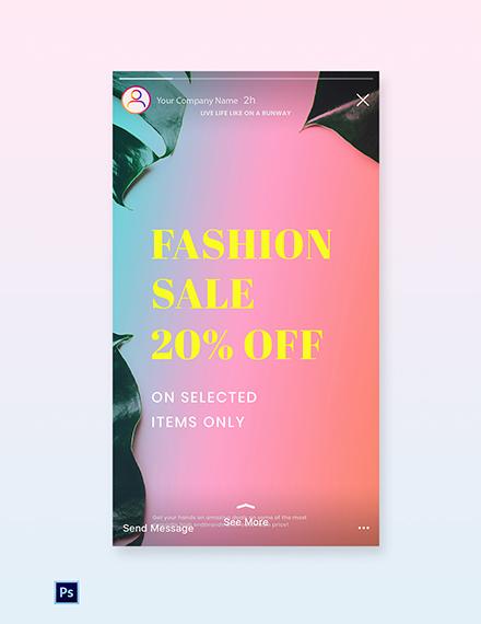 Free Basic Fashion Sale Instagram Story Template