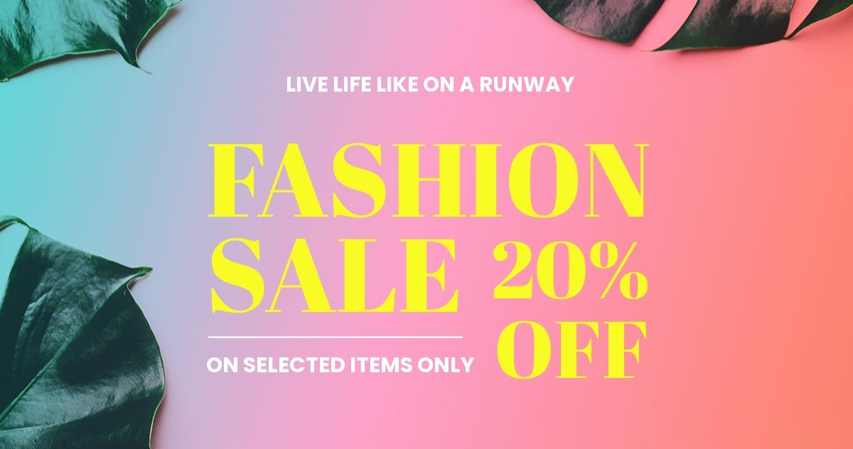 Basic Fashion Sale LinkedIn Blog Post Template.jpe