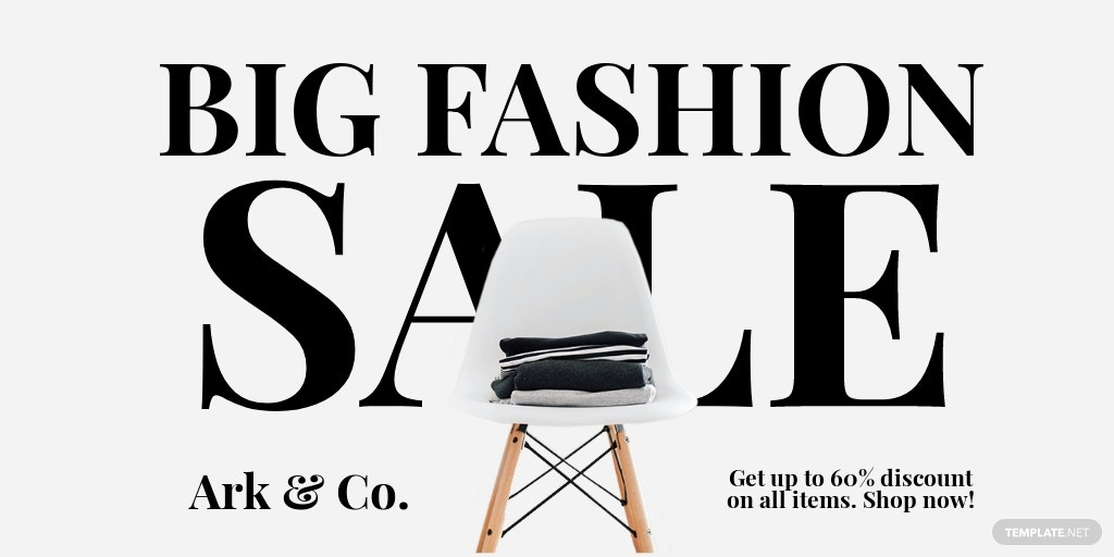 Basic Fashion Sale Twitter Post Template