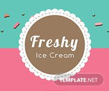 Free Ice Cream Menu Template