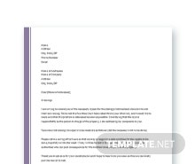 Free Complaint Letter to Landlord About Repair Template