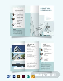 Residential Real Estate Broker Tri-Fold Brochure Template