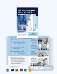 Apartment Condo Agent Agency Bi-Fold Brochure Template