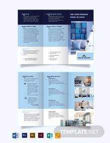 Apartment Condo Agent Agency Tri-Fold Brochure Template