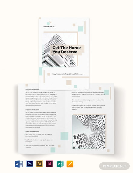 Real Estate Mortgage Company Bi-Fold Brochure Template