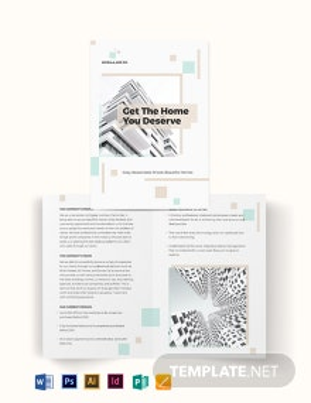 Real Estate Mortgage Company Bi-Fold Brochure Template