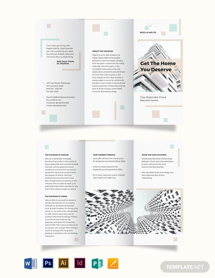 Realestate Mortgage Company TriFold Brochure