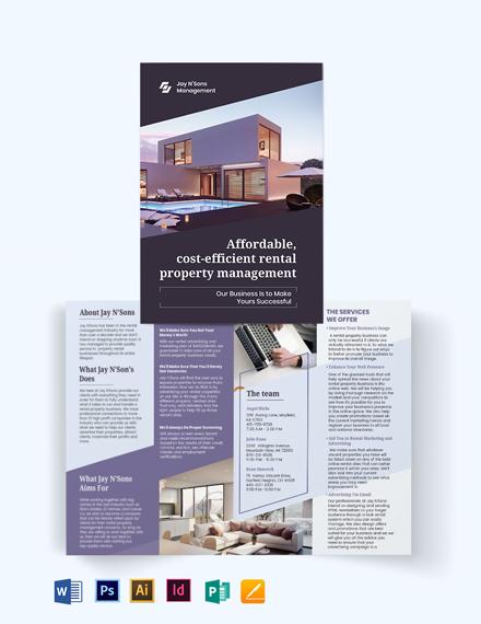 Rental Management Bi-Fold Brochure Template
