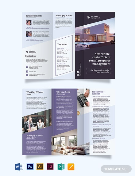 Rental Management Tri-Fold Brochure Template