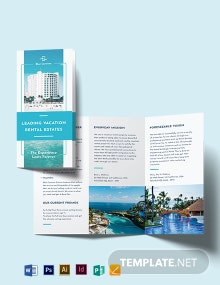 Vacation Rental Management Tri-Fold Brochure Template