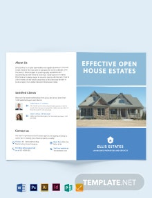 Real Estate Community Bi-Fold Brochure Template