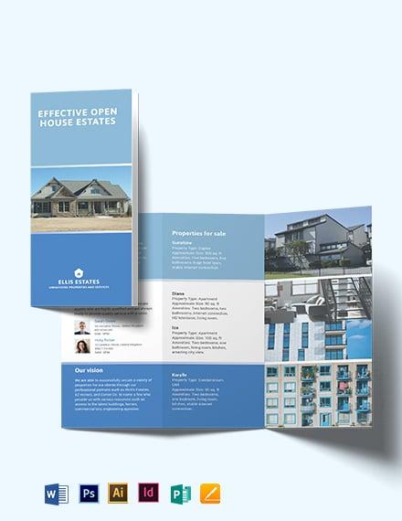 Realestate community Tri-Fold Brochure Template