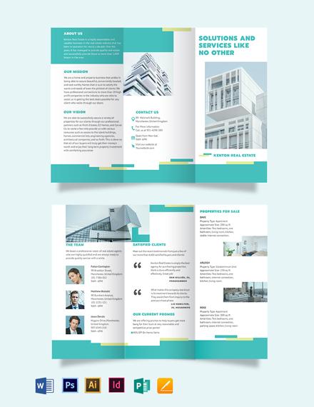 Subdivision Tri-Fold Brochure Template