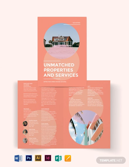 Vacation Rental Bi-Fold Brochure Template