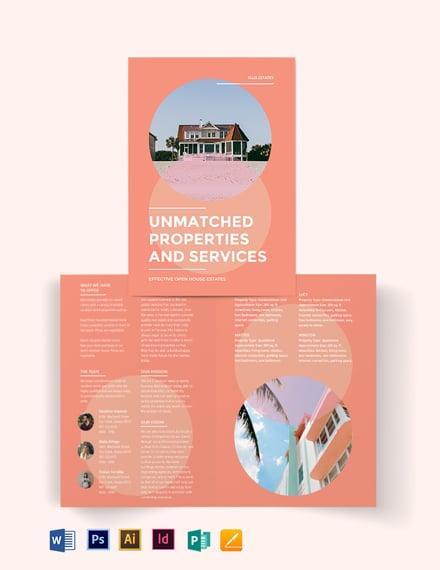 Vacation Rental Bi-Fold Brochure Template
