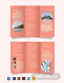 Vacation Rental Tri-Fold Brochure Template
