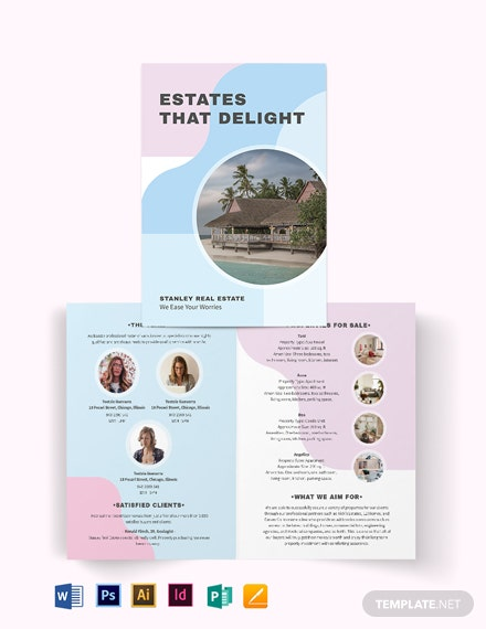 Summer Vacation Rental BiFold Brochure