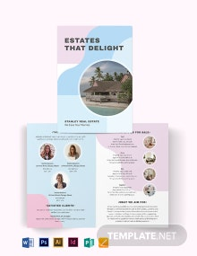 Summer Vacation Rental Bi-Fold Brochure Template