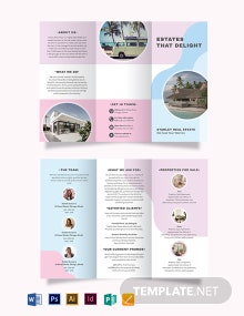 Summer Vacation Rental Tri-Fold Brochure Template