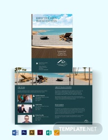 Vacation Rental Sale Bi-Fold Brochure Template