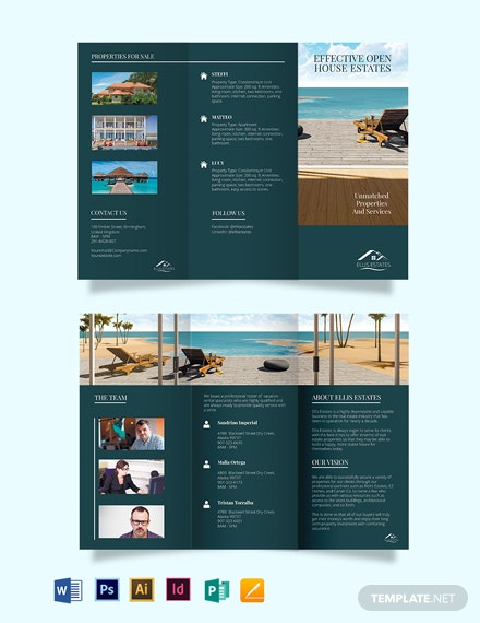 Vacation Rental sale TriFold Brochure