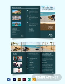 Vacation Rental Sale Tri-Fold Brochure Template