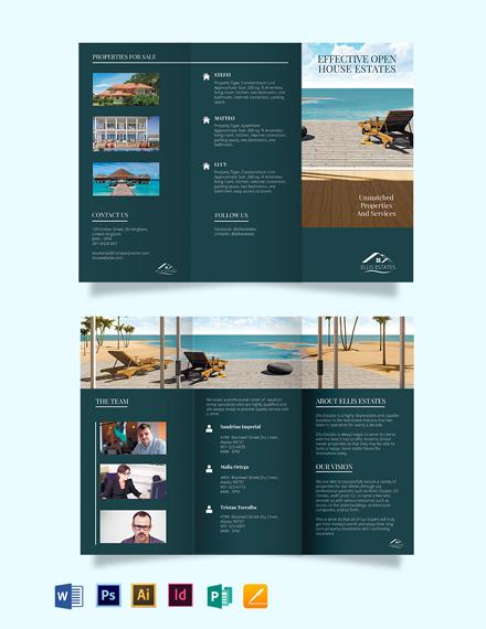 Vacation Rental Sale Tri-Fold Brochure Template