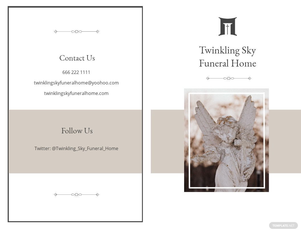 Blank Funeral Mass Bi Fold Brochure Template.jpe
