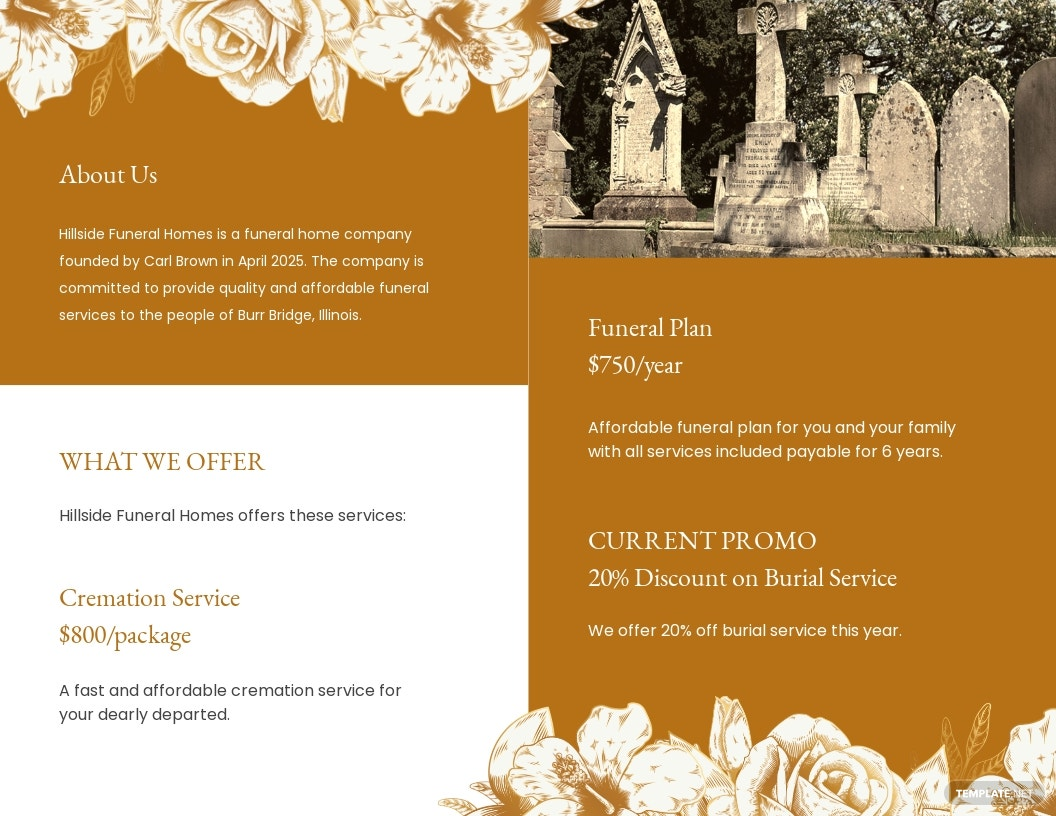 Editable Cremation Funeral Bi Fold Brochure Template 1.jpe