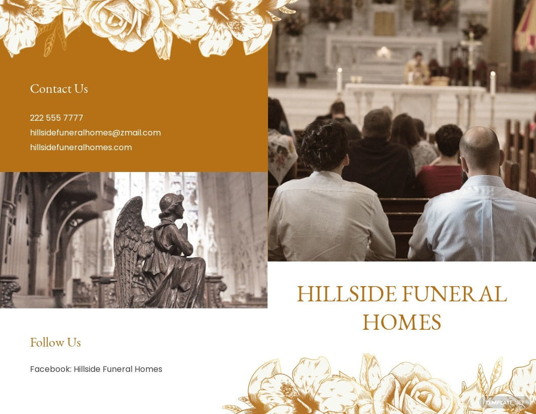 Editable Cremation Funeral Bi Fold Brochure Template.jpe