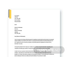 Free Formal Complaint Letter Template