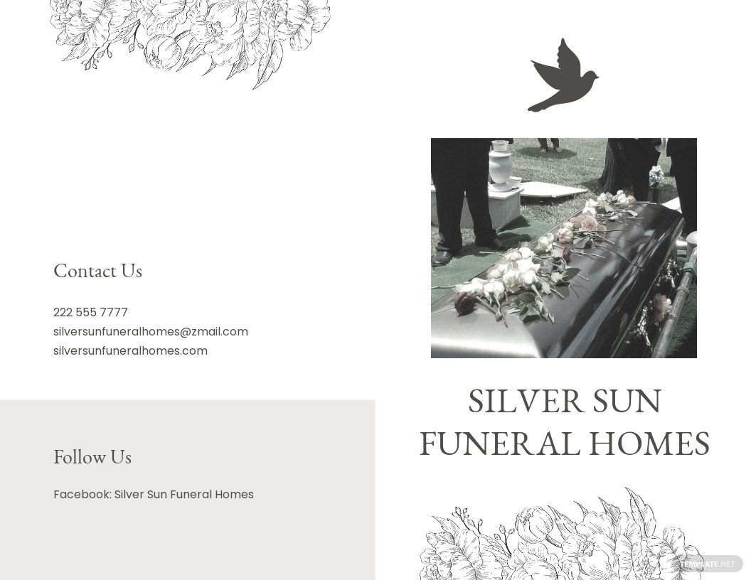 Ceremony Cremation Funeral Bi Fold Brochure Template.jpe