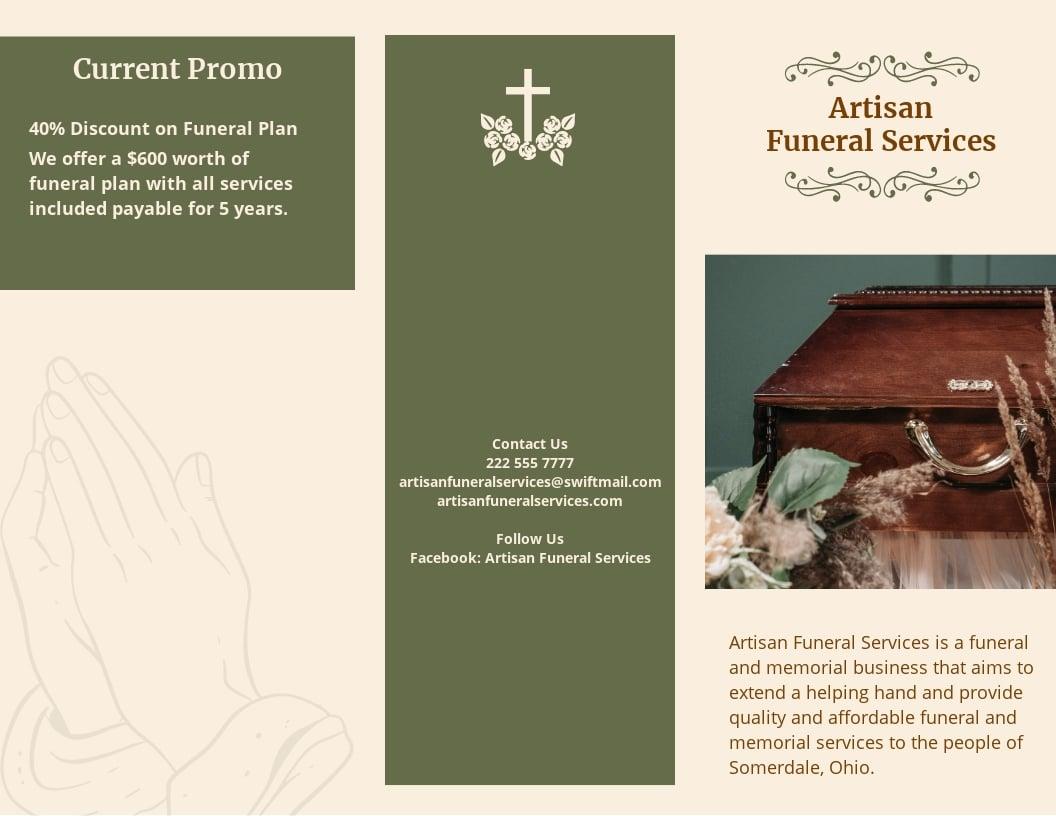 Catholic Eulogy Funeral Tri Fold Brochure Template.jpe