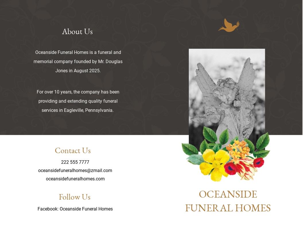 Christian Eulogy Funeral Bi Fold Brochure Template.jpe