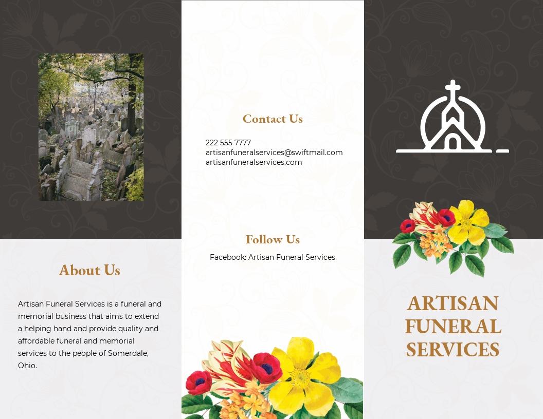 Christian Eulogy Funeral Tri Fold Brochure Template.jpe
