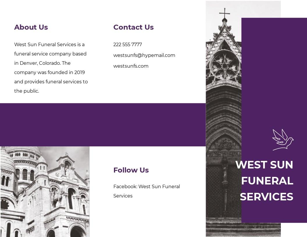 Church Funeral Service Tri Fold Brochure Template.jpe