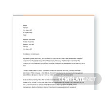 Free Letter of Complaint to Management Template