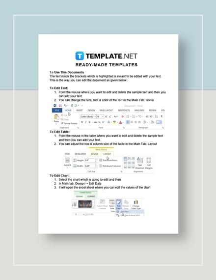 Medical Sheet Instructions