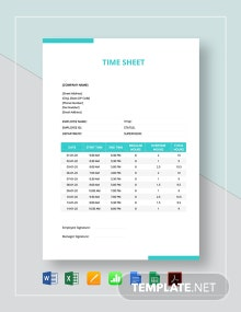 Numbers Timesheet Template