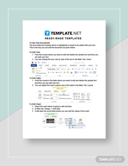 Product Sales Sheet Instructions