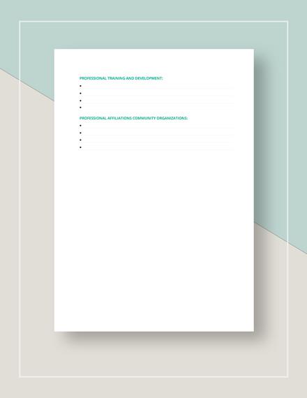 Resume Worksheet Template - PDF | Word | Google Docs | Apple ...