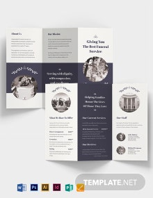 Legacy Funeral Service Tri-Fold Brochure Template
