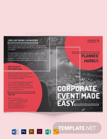 Simple Corporate Event Bi-fold Brochure Template