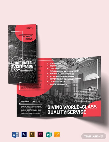 Simple Corporate Event Trifold Brochure