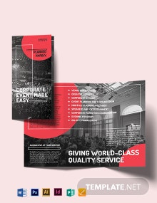 Simple Corporate Event Tri-fold Brochure Template