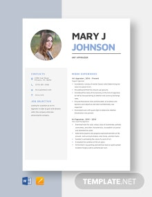 Art Appraiser Resume Template