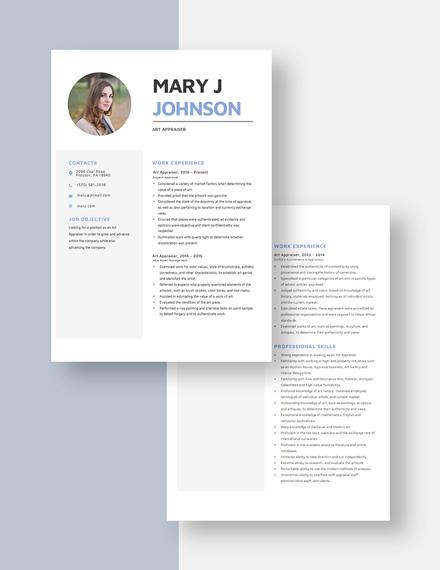 Art Appraiser Resume Download