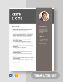 Chief Compliance Officer Resume Template